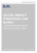 EVPA Social Impact Strategies for Banks